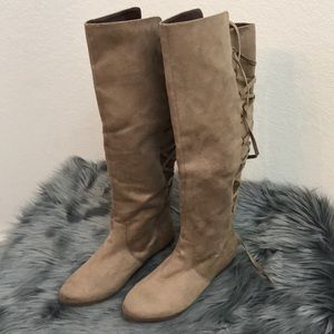 NWOB Not Rated Over the Knee Lace Up Boot Sz 7.5